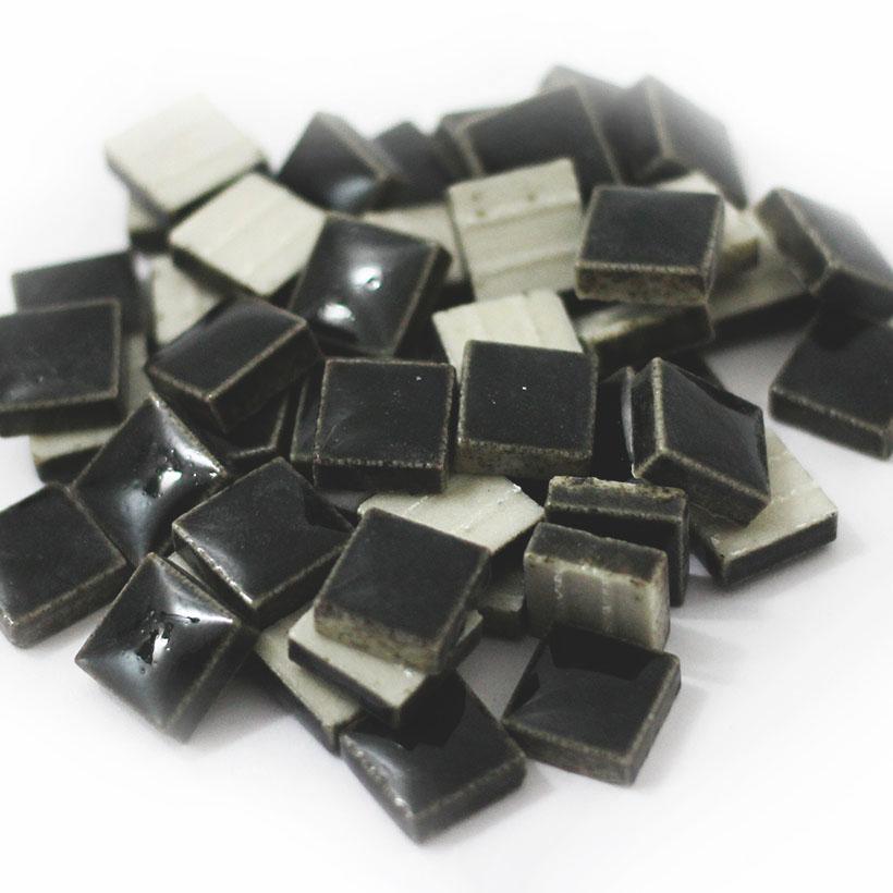 10mm角モザイクタイル ブラック 10k-10