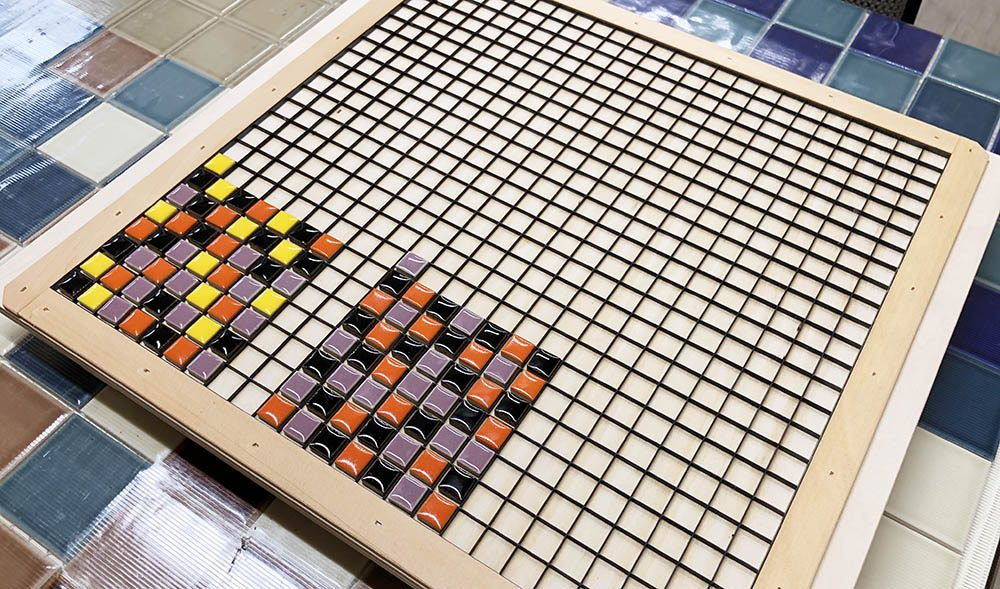 ハロウィン 10mm角モザイクタイル